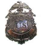 Eagle United States Deputy Marshal Badge With Nickel Finish